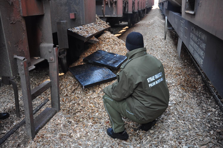 Польские пограничники обнаружили контрабанду в товарняке, ехавшем из Бреста